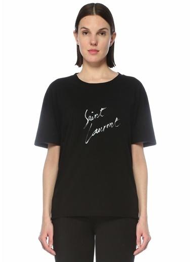 Saint Laurent Saint Laurent   Logo Detaylı T-shirt 101622227 Siyah